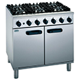 6 hob gas cooker oven combo availible to hire for catering events at Stamford Tableware Hire