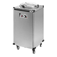 Stainless steel plate warmer availible to hire for catering events at Stamford Tableware Hire