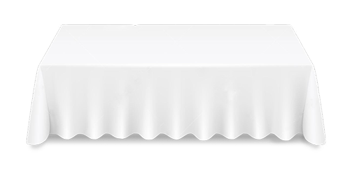 White Rectangle Tablecloth Hire Stamford Tableware Hire