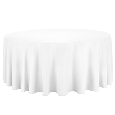 300cm Round White Tablecloth Hire Stamford Tableware Hire