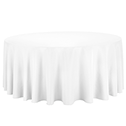 White cotton round tablecloth 330cm availible to hire for catering events at Stamford Tableware Hire